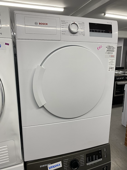 (135) Bosch Serie 4 WTA79200GB 7kg Freestanding Vented Tumble Dryer - White