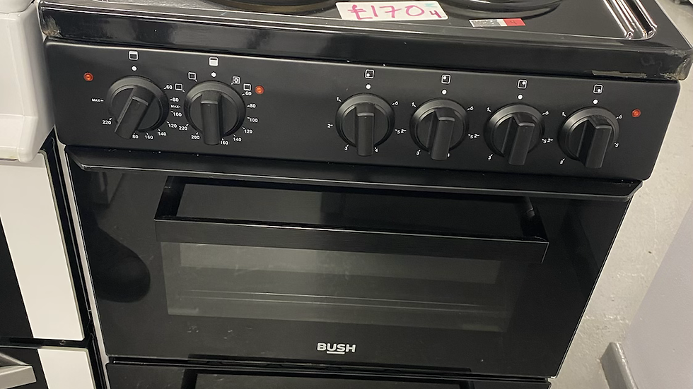 (053) Bush BETAW50B 50cm Twin Cavity Electric Cooker - Black