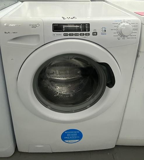 Candy GVS148D3 8KG  Freestanding Washing Machine - White *GRADED*
