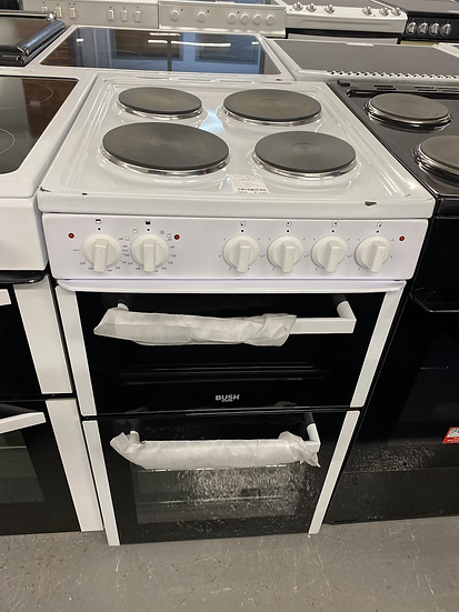 (087) Bush BETAW50W 50cm Twin Cavity Electric Cooker - White