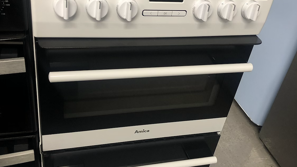 (805) Amica 50cm Electric Cooker - AFC5550WH