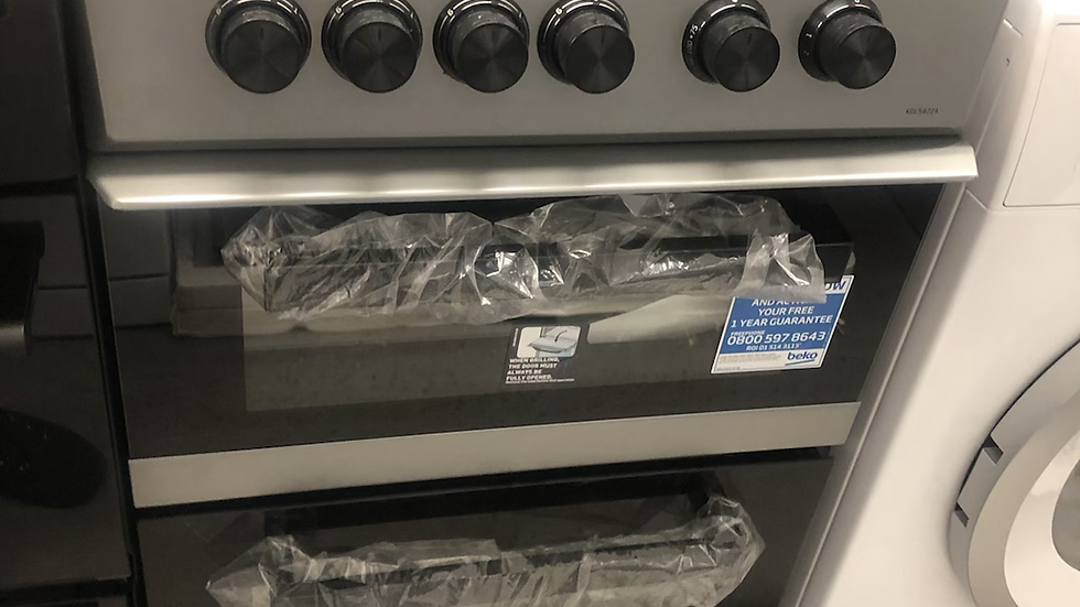 (795) Beko 50cm Electric Cooker - KDC5422A- Silver