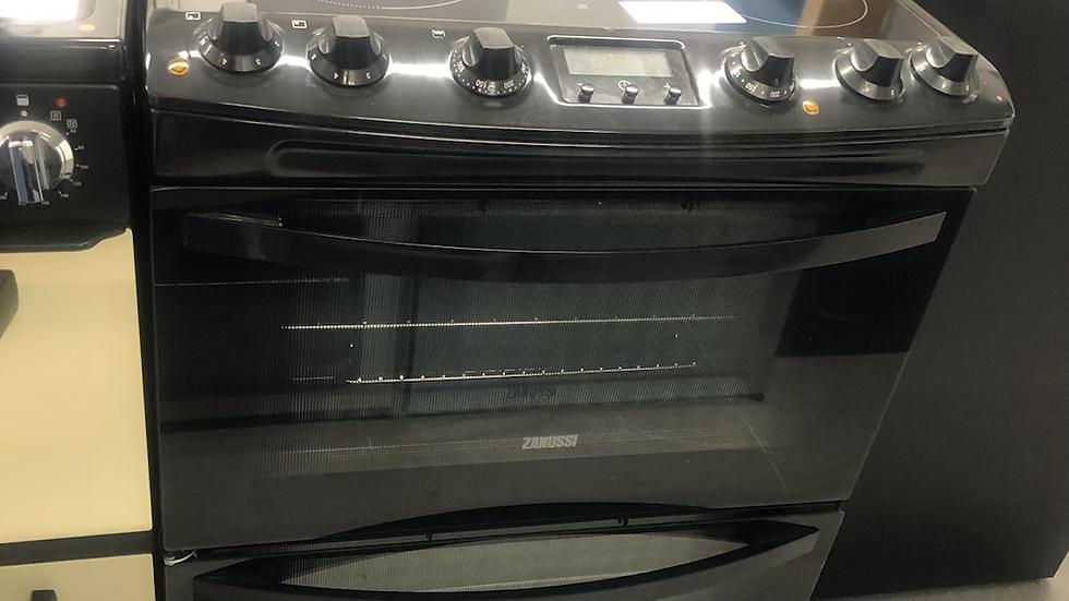 (956) Zanussi 60cm ZCV68300BA Electric Cooker, Black