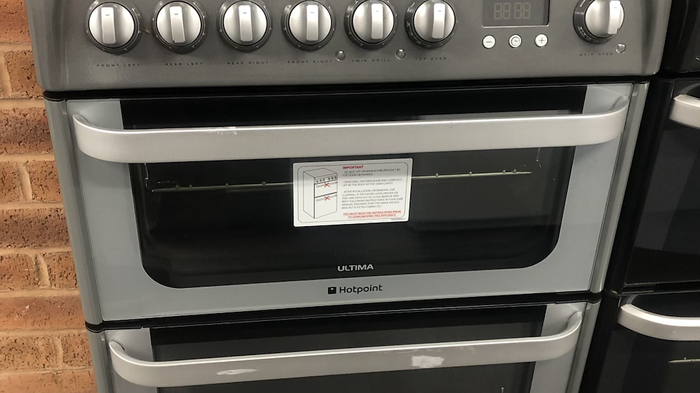 (830) Hotpoint Ultima HUE61GS Electric Cooker with Ceramic Hob - Graphite - A/A