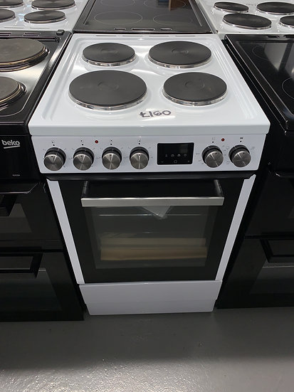 New World NWLS50SEW 50cm Single Electric Cooker - White *GRADED*