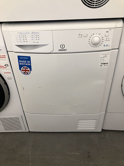 (407) Indesit EcoTime IDC 8T3 Tumble Dryer in White