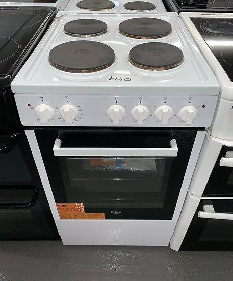 BUSH BESAW50W 50cm Single Electric Cooker - White