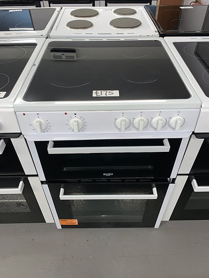 Bush B60TCWX 60cm Twin Cavity Electric Cooker - White *GRADED*