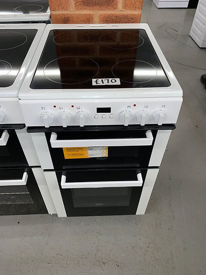 Bush DHBEDC50W 50cm Double Oven Electric Cooker - White *GRADED*