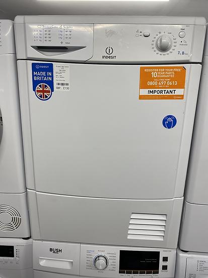 (133) Indesit IDC75 7KG Condenser Tumble Dryer - White