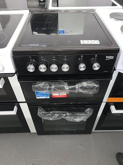 Beko KDVC563AK 50cm Double Oven Electric Cooker - Black *GRADED*