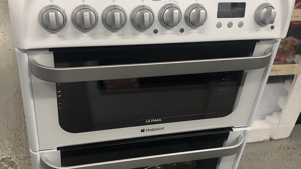 (809) Hotpoint 60cm Gas Cooker- HUD61PS
