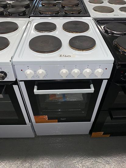 Bush BESAW50W 50cm Single Electric Cooker - White *GRADED*