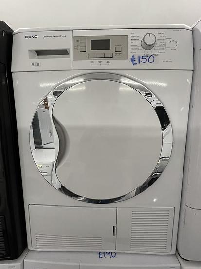 (104) Beko DCU9330W Sensor 9kg Freestanding Condenser Tumble Dryer White
