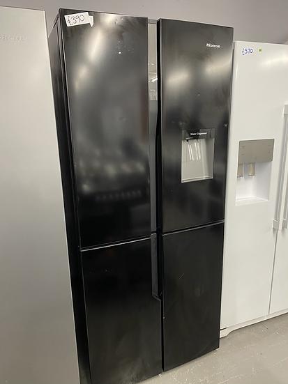 (003) Hisense RQ560N4WB1 American Fridge Freezer - Black