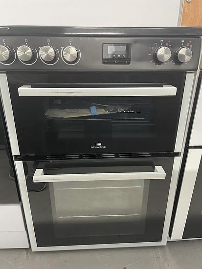 (461) New World NWLS60TEB 60cm Twin Electric Cooker - Black