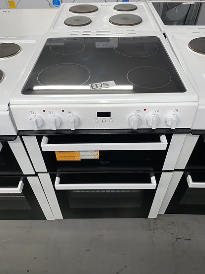 Bush BDBL60ELW 60cm Double Oven Electric Cooker - White *GRADED*