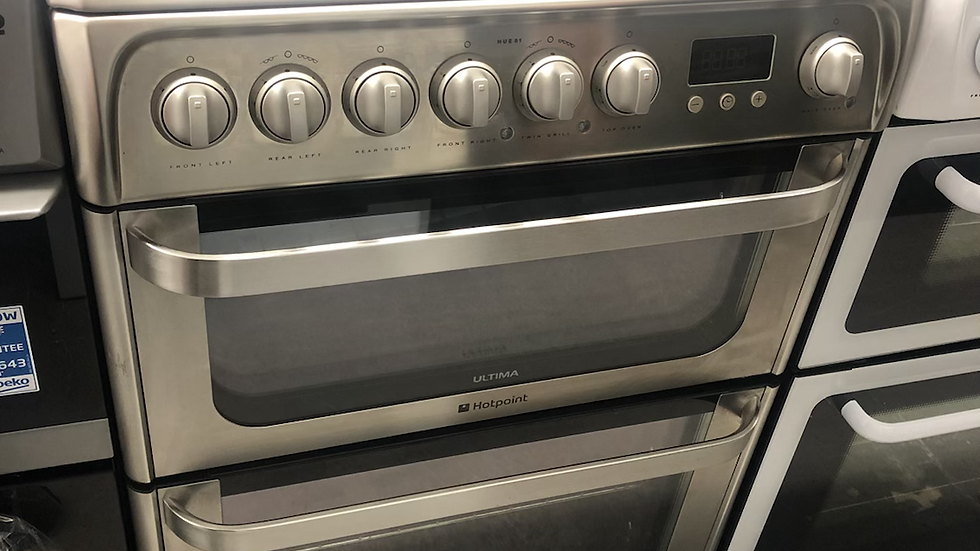 (802) Hotpoint 60cm Electric Cooker - HUE61XS