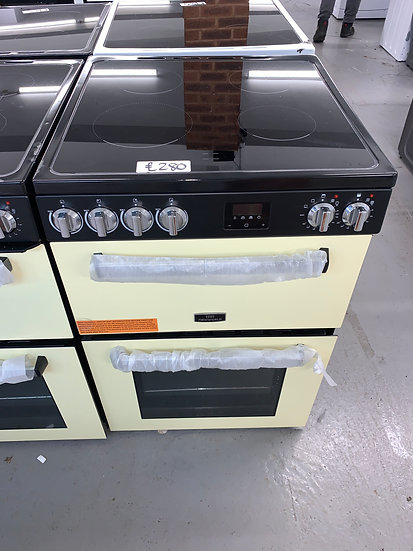 New World NWLS60DEW 60cm Double Oven Electric Cooker - Cream *GRADED*