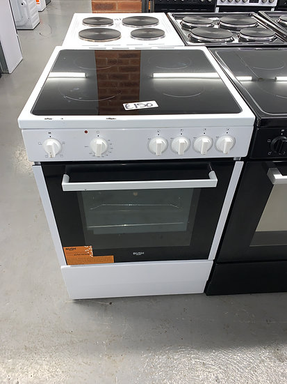 Bush B60SCWX 60cm Single Electric Cooker - White *GRADED*
