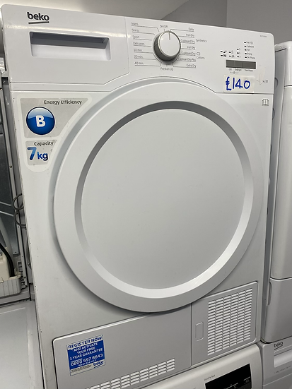 (137) BEKO DCX71100W Condenser Tumble Dryer - White