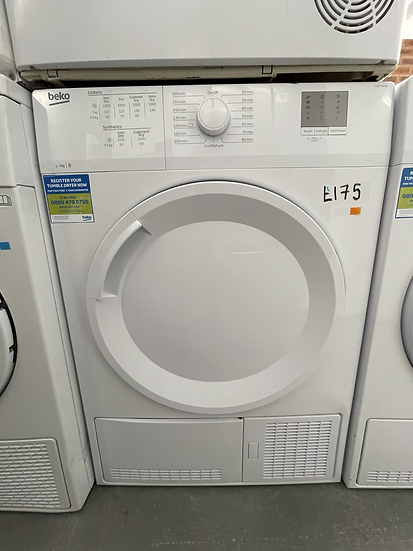 (098) Beko DTGC7000W 7kg Load, Full Size Condenser Sensor Dryer - White
