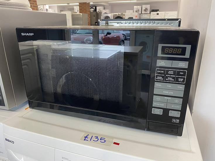 (462) Sharp R372KM 25L Digital Microwave Oven - Black R372KM