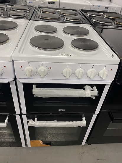 (82)Bush BETAW50W 50cm Twin Cavity Electric Cooker - White