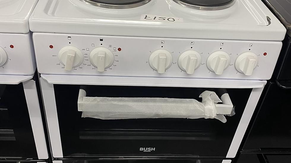 (061) Bush BETAW50W 50cm Twin Cavity Electric Cooker - White