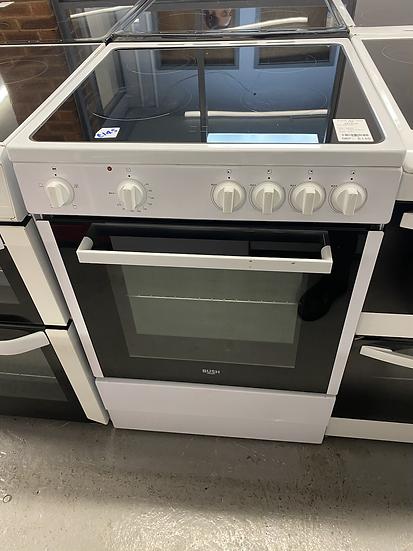 (206) Bush B60SCWX 60cm Single Electric Cooker - White