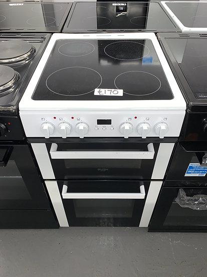 Bush DHBEDC50W 50cm Double Oven Electric Cooker - White *GRADED