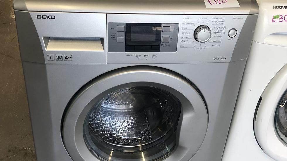 (123) BEKO 7KG WASHING MACHINE - WMB7164S - Silver