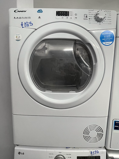 (109) Candy Smart CSH8A2LE 8Kg Heat Pump Tumble Dryer - White - A++ Rated