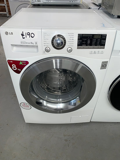 Lg F14A8TDA Direct Drive 8kgWashing Machine - White
