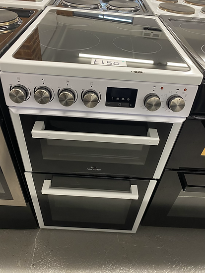 (31)New World NWLS50TEW Twin Cavity Electric Cooker - White