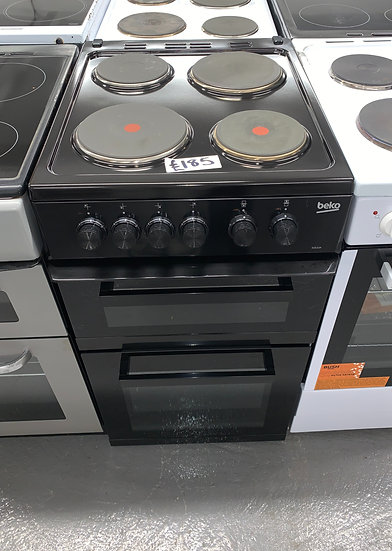 Beko KD533AK 50cm Electric Cooker with Solid Plate Hob - Black - A Rated