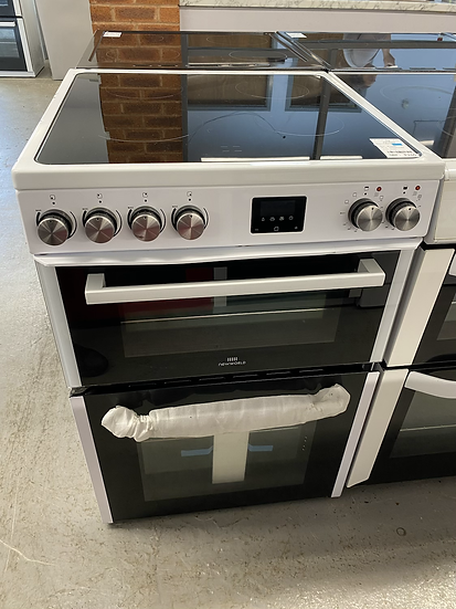 (299) New World NWLS60DEW 60cm Double Oven Electric Cooker - White