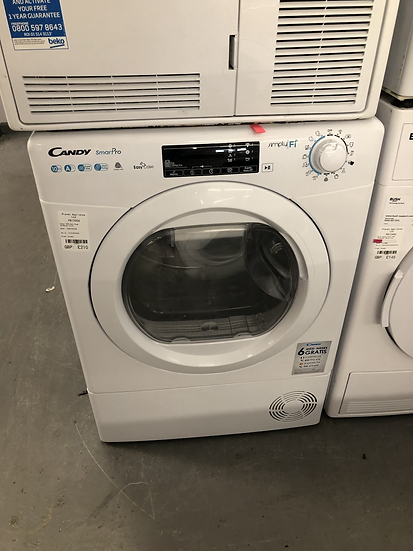 (586) Candy Rapido ROH10A2TCE Wifi Connected 10Kg Heat Pump Tumble Dryer