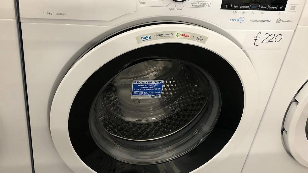 (753) Beko 9kg Washing Machine - WEY96052W- White