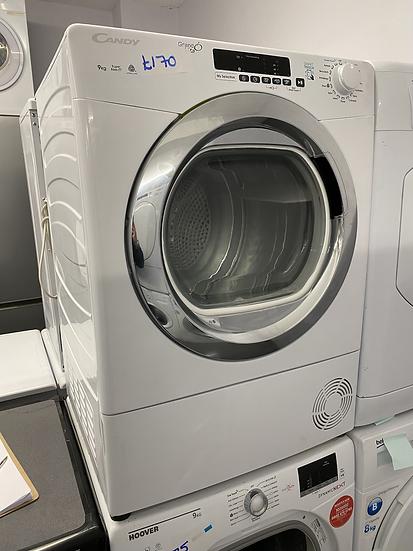 (129) Candy Grand'O Vita GVSC9DCG 9Kg Condenser Tumble Dryer - White