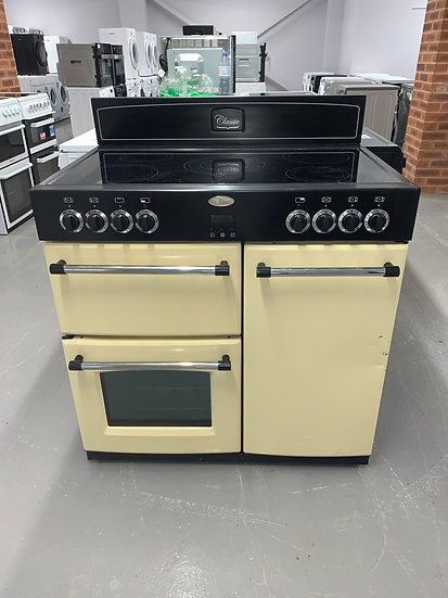 Belling Farmhouse 90cm Electric Cooker - Yellow