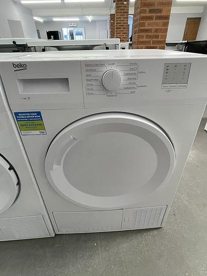 (213) Beko DTGC7000W 7kg Freestanding Condenser Tumble Dryer - White