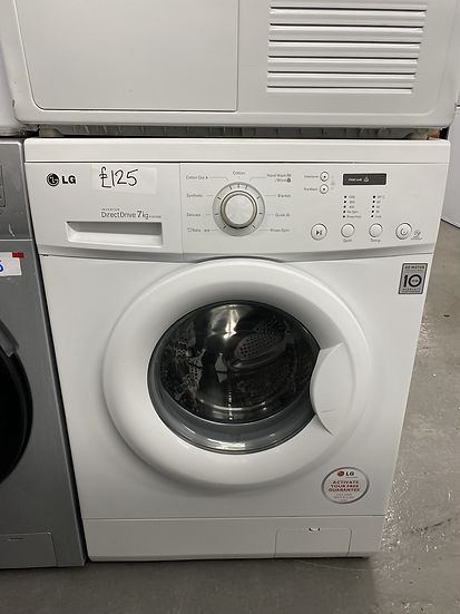 (190) LG F12C3QD Direct Drive 7kg 1200rpm Freestanding Washing Machine-White