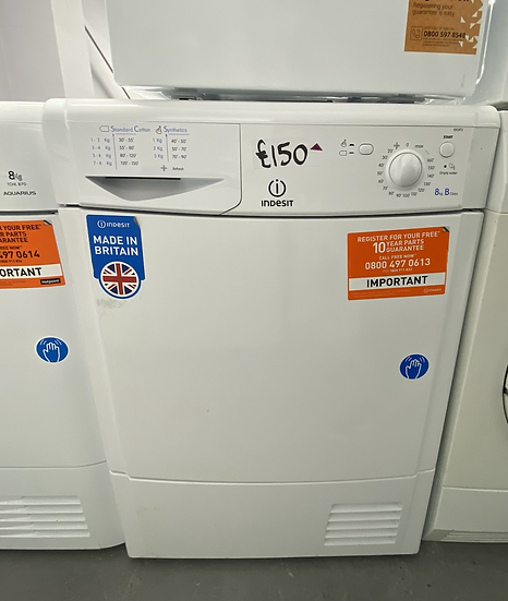 INDESIT Ecotime IDC8T3 Condenser Tumble Dryer – White *GRADED*