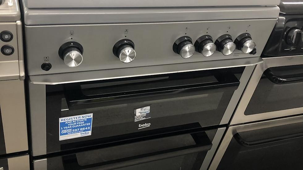 (133) Beko 60cm Gas Cooker - XTG611S