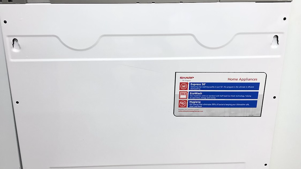 (032) Sharp Integrated Dishwasher - QW-NI13I49EX