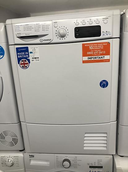 (558) Indesit EcoTime IDCE 8450 B H Tumble Dryer in White