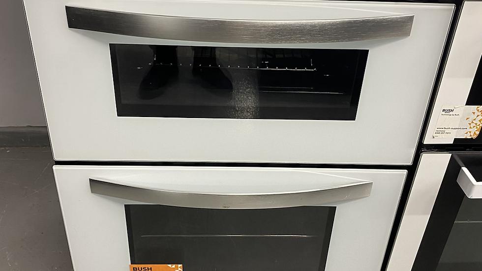 (214) Bush integrated double oven - white