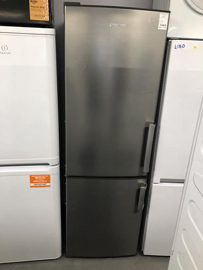 (478) Hoover silver fridge freezer HVBF6182XFHK/1