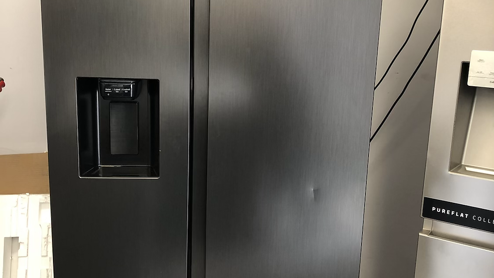 (411) SAMSUNG RS8000 RS68N8330B1/EU American-Style Fridge Freezer - Black Steel
